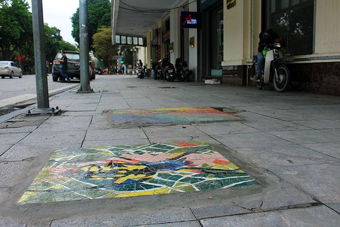 Hà Nội: Biến nắp hố ga khu vực Hồ Gươm thành tác phẩm nghệ thuật