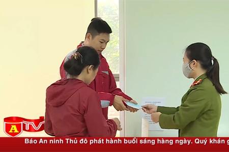 Công an Hà Nội làm tốt công tác phòng dịch tại khu vực tiếp dân
