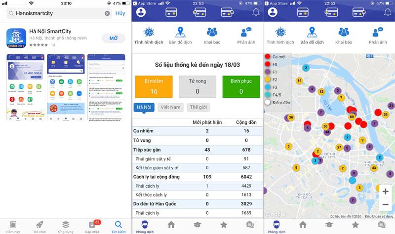 Người dân có thể đăng ký test nhanh Covid-19 qua ứng dụng Hà Nội Smart City