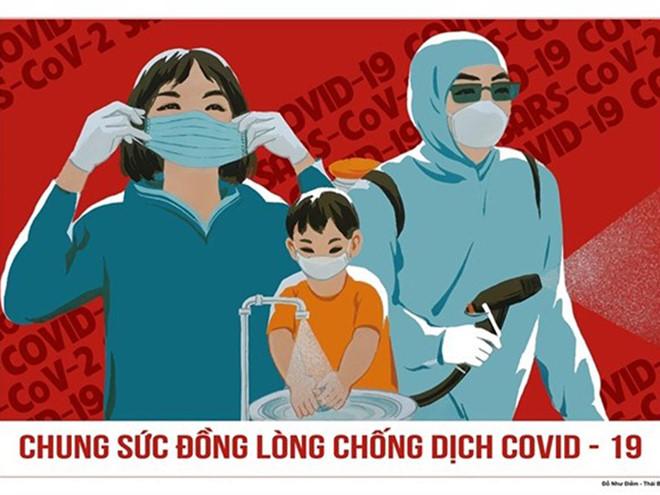 Sức mạnh tranh cổ động phòng, chống dịch Covid-19