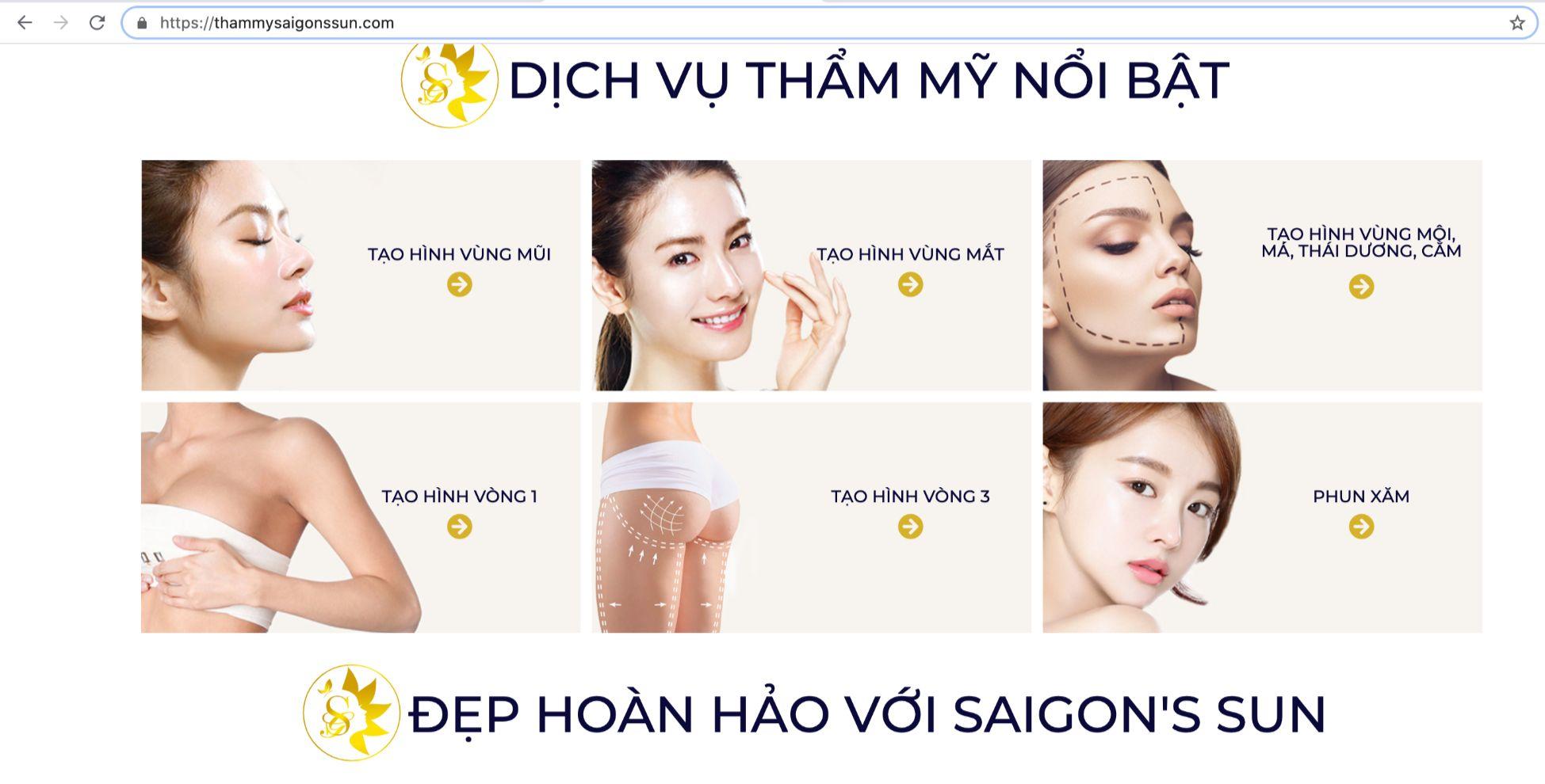 Trung tâm phẫu thuật thẩm mỹ Saigon'sun có được phép nâng ngực như quảng cáo?