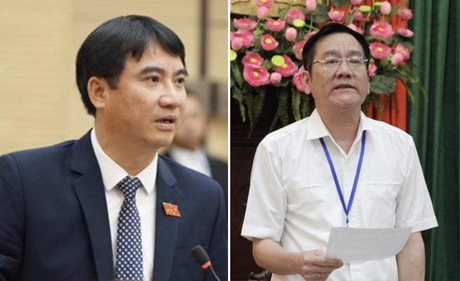 Chủ tịch và PCT quận Thanh Xuân phải