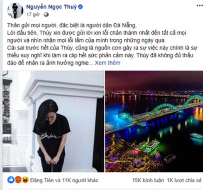 Đăng tin kỳ thị người dân Đà Nẵng: Á hậu doanh nhân Nguyễn Ngọc Thúy bị phạt 7,5 triệu đồng