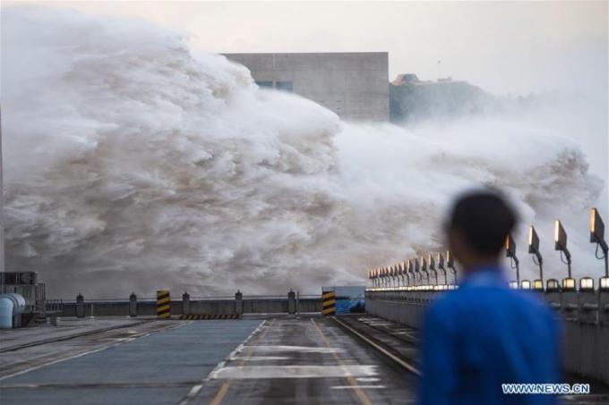 Mực nước hồ chứa đập Tam Hiệp trong trận lũ thứ 2 đạt mức cao kỷ lục