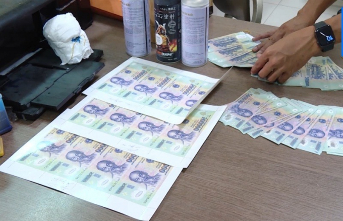 Triệt phá đường dây sản xuất, lưu hành tiền giả tại Bà Rịa - Vũng Tàu