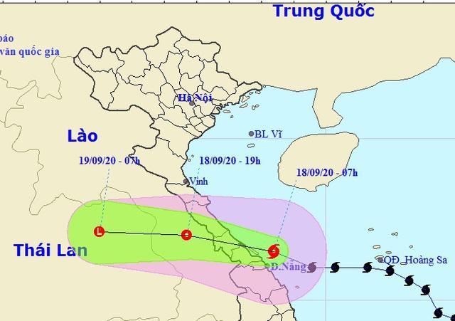 Bão số 5 áp sát các tỉnh Quảng Bình đến Đà Nẵng