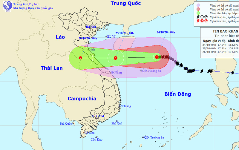 Bão số 8 bắt đầu giảm cường độ, các tỉnh Nghệ An đến Thừa Thiên Huế mưa to