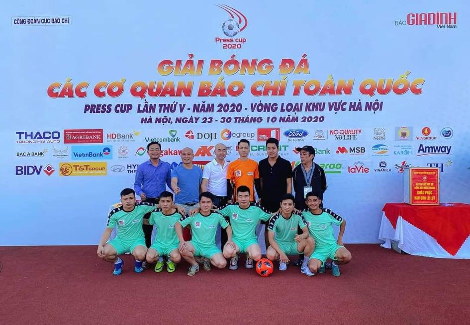 Tân binh CLB Liên quân các nhà báo tại Hà Nội chiến thắng trong trận đầu ra quân Press Cup 2020