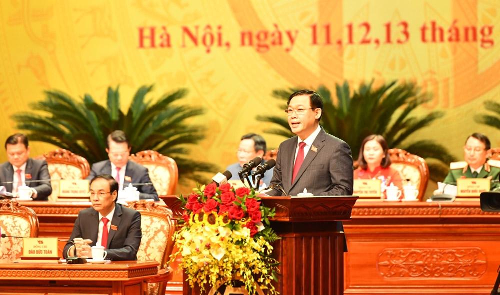 Khai mạc trọng thể Đại hội đại biểu lần thứ XVII Đảng bộ thành phố Hà Nội