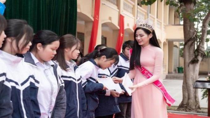 Hoa hậu Đỗ Thị Hà ra mắt quỹ học bổng mang tên mình