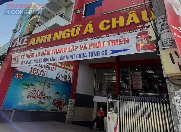 TP.HCM: Hàng loạt cơ sở của Trung tâm Anh ngữ Á Châu hoạt động rầm rộ khi chưa được cấp phép