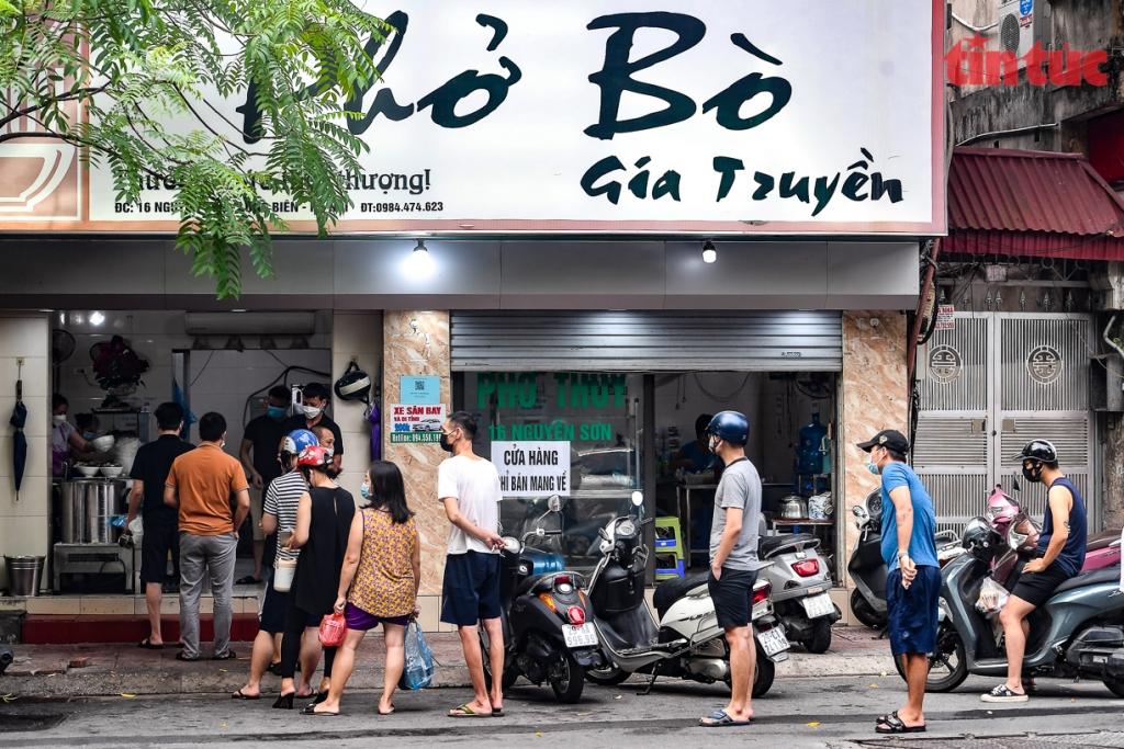 Chi tiết 22 quận, huyện của Hà Nội được mở hàng bán mang về